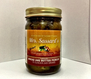 Mrs. Sassard's Southern Bread and Butter Pickles